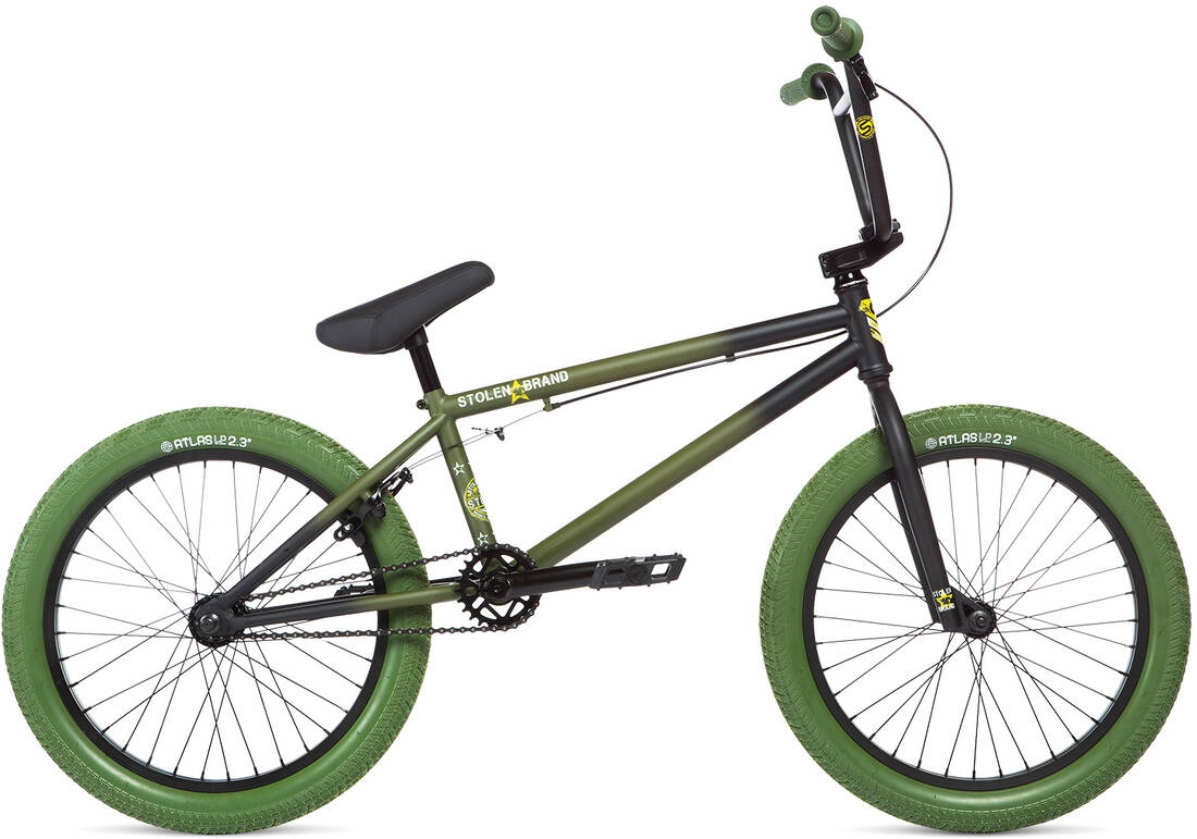 Stolen Stereo 20inch 2020 BMX Freestyle Bike Faded Spec Ops - zelená